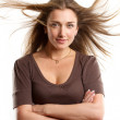 Woman With Wind in her Hair — Stock Photo #13510215