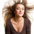 Woman With Wind in her Hair — Stock Photo #13510255