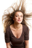 Woman With Wind in her Hair — Stock Photo