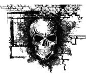 Cráneo de halloween — Vector de stock
