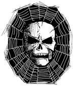 Cráneo monstruo furioso — Vector de stock