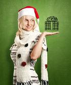 Woman Waiting For Christmas — Stock Photo