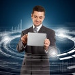 Businessman With Touch Pad — Stock Photo #15600045