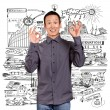 Asian Man Shows OK — Stock Photo #16502765
