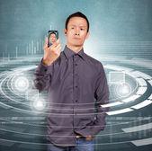Uomo asiatico, fare un avatar — Foto Stock