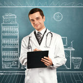 Doutor man com prancheta — Foto Stock