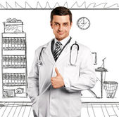Doctor Man With Stethoscope — Stock Photo
