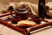 Natura morta con tè — Foto Stock