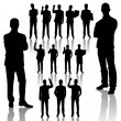 Business Man Silhouettes — Stock Vector