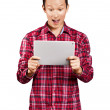 Asian Man With Touch Pad — Stock Photo #19747635