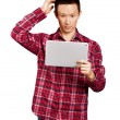 Asian Man With Touch Pad — Stock Photo #19748453