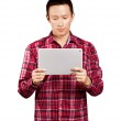 Asian Man With Touch Pad — Stock Photo #19748581