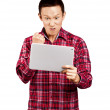 Asian Man With Touch Pad — Stock Photo #19748735