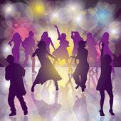танцевальная вечеринка — Cтоковый вектор