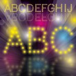 Disco Alphabet — Stockvectorbeeld