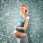 Mulher grávida — Foto Stock