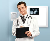 Doctor Man With Clipboard — Stock fotografie