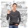 Asian Man In Striped Pullover — Stock Photo #22943226