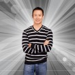 Asian Man In Striped Pullover — Stock Photo #22945778