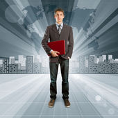 Business against Conceptual Background — Stock Photo