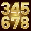 Golden Letters and Numbers Big and Small — Stock Vector #23214380