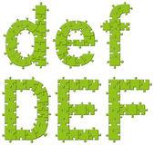 головоломки головоломки буквы алфавита — Cтоковый вектор