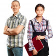 Asian business Woman and Man — Stock Photo