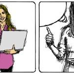 donna d'affari di disegno vettoriale — Vettoriale Stock