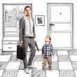 Father And Baby Son — Stock Photo #25551497