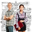 Stock Photo: Asian business Woman and Man