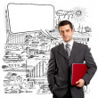 Business Man With Speech Bubble — Stock Photo #25551993