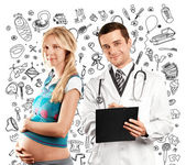 Pregnant Woman With Doctor — Stock Photo