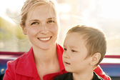 Woman And Boy Happy Family — Stock Photo