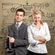 Business Woman and Man — Stock Photo