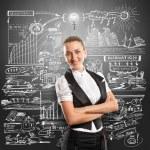 Idea Concept Business Woman — Stock Photo