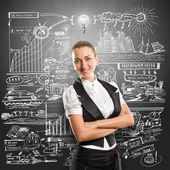 Idea Concept Business Woman — Stock Photo