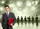 Business man werkgever — Stockfoto