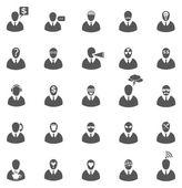 бизнес серая икона set — Cтоковый вектор