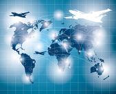 Konceptuální obchodní zázemí — Stock vektor