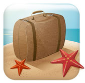 App Travel Icon With Suitcase — Stock Vector