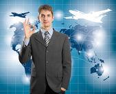 Konzeptionelle betriebswirtschaftlicher hintergrund — Stockfoto