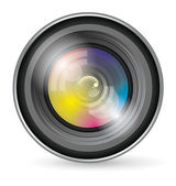 Camera Lens Icon — Stock Vector