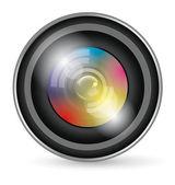 Icona lente della fotocamera — Vettoriale Stock