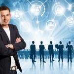 Business Man Employer — Stock Photo