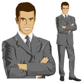 Vector Businessman In Suit — Stock Vector