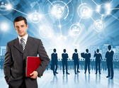 Empregador de homem de negócios — Foto Stock