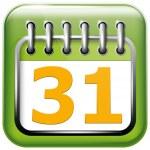 App Icon Calendar — Stock Vector