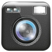 Camera Lens Icon — Vettoriale Stock