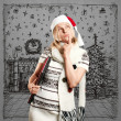 Woman Waiting For Christmas — Stockfoto