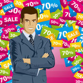 Vector Businessman In Suit — Vettoriale Stock